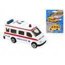 Ambulance CZ 7cm kov volný chod 2barvy na kartě, 8592117654211